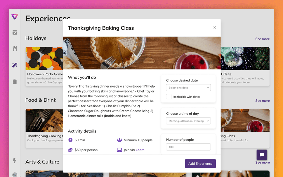 Product Update: Get Employee Insights and Book Experiences That Your Team Wants